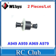 2 Stuks/partij WLtoys A949 A959 A969 A979 1:18 RC Auto Onderdelen Voor/Achter Complete Differentieel A949-23(China)