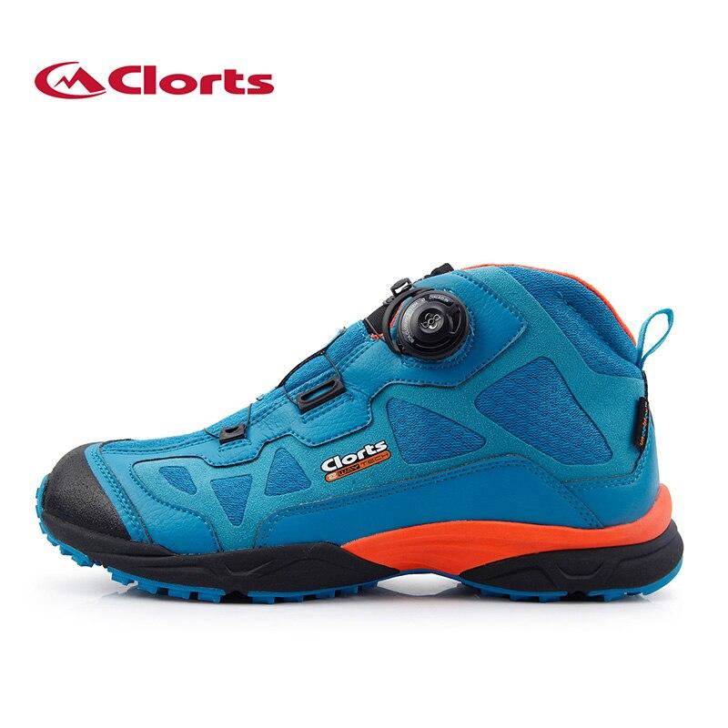 Clorts Водонепроницаемый зима Пеший Туризм Сапоги для Для мужчин шнуровки BOA Системы Пеший Туризм обувь противоскользящей горные кроссовки