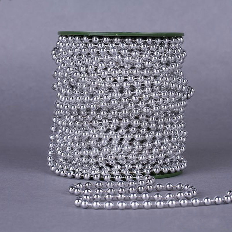 Pearl Garland For Christmas Tree: A Pack 5Meter Length Bead DIA 6MM Artificial Pearl Beads