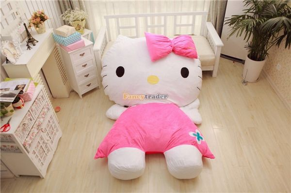 Fancytrader 200cm X 150cm Soft Lovely Huge Giant Pink Hello Kitty Double Bed Carpet Sofa, FT50313 (8)