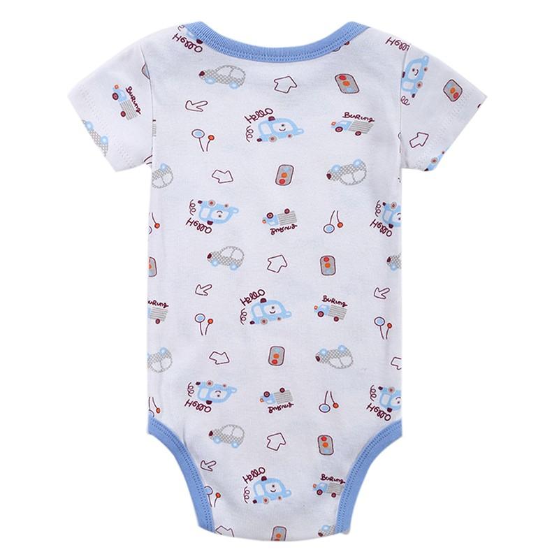 DH16106 Newborn Baby Clothes Animal Print Short Sleeve Cotton Baby Boy Romper Girl Ruffle Romper roupas de bebe infantil Costumes (13)
