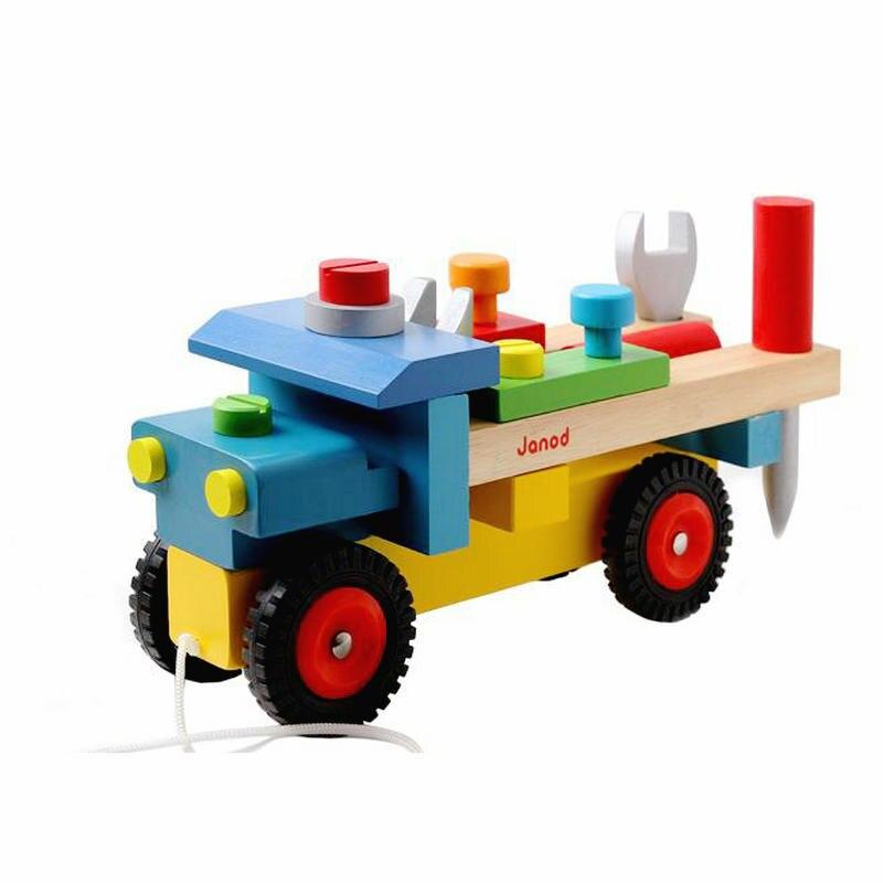 Бесплатная Доставка Дети инструменты крепежный винт автомобиль, гайка сборки автомобиля, детские игрушки, развивающие игрушки, камион Bricolo