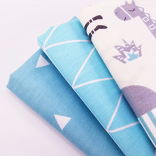 Various Sizes 100% Pure Cotton Twill Patchwork Fabric Fat Quarters Breathable Body-Friendly Material Quilting Cloth