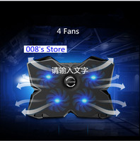 NEW Radiator Cooler Cooling Fan For Laptop Pad 14 15.6 17 inch with 4 fans 2 USB Port Slide proof Stand Notebook Cooler