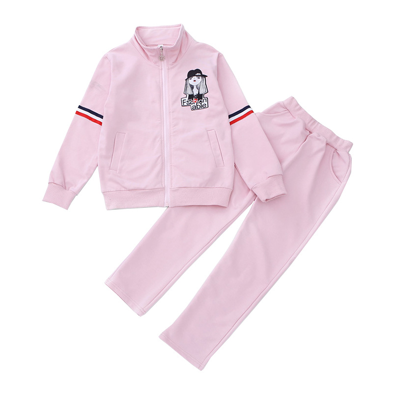 Girls Tracksuits Brand Casual Children Clothing Sets For Girls Sportswear Outfits Cotton Kids Sports Suits  3 4 6 8 10 12 14