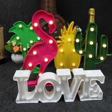Unicorn Flamingo LED Night Light Baby Shower Home Wedding Party Decoration Star Heart Pineapple Christmas Tree 3D Desk Lamp,B guxen 3d novelty lamp flamingo pineapple cactus coconut tree boat anchor snowflake unicorn love heart for gift bedroom decorate