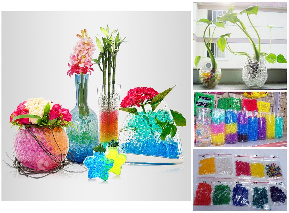 5g*10packs (10 colors) Crystal Soil Water Gel Balls Beads ...