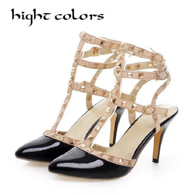 Femmes Sandales Stiletto Heel pour l'été en Plein air Confort Rouge Rose Blanc Noir Taille 35-39 (Couleur : Rose, Taille : 37)
