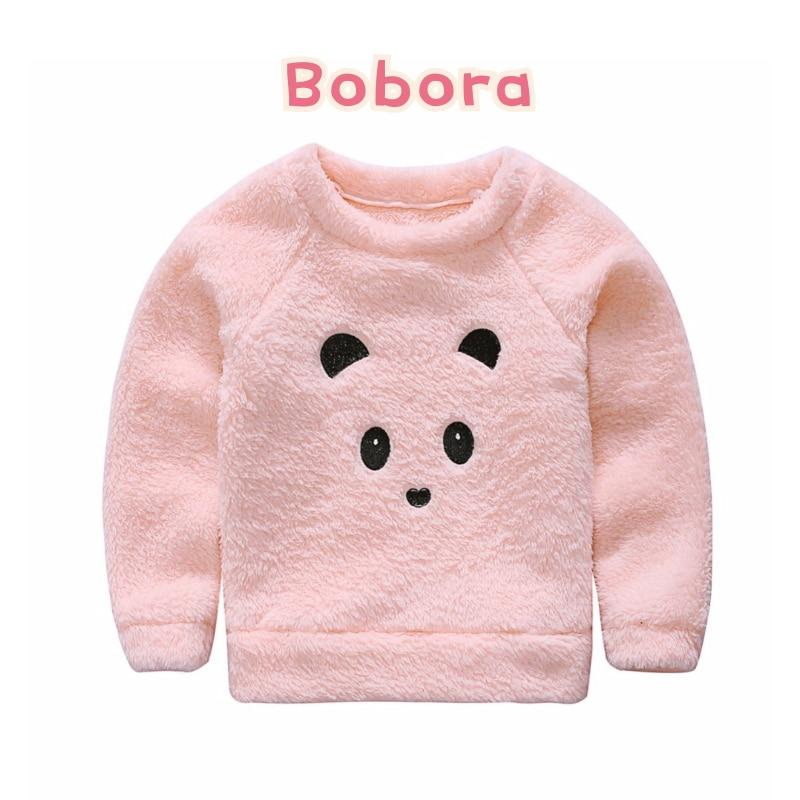 Winter Cute Dog Print Baby Boys Girls Kids Puppy Cartoon Sweaters Soft Warm Coats