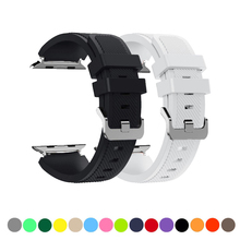 купить sport silicone strap for apple watch band 44mm 40mm 42mm 38mm correa rubber bracelet watchband for iwatch series 4/3/2/1 belt по цене 247.5 рублей