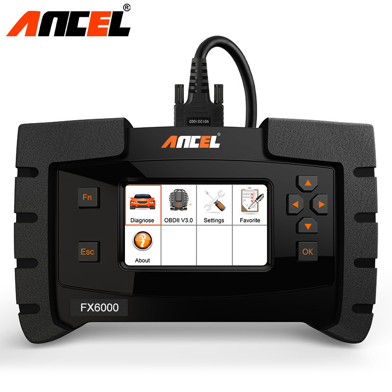 אנצ 'ל FX6000 OBD2 רכב אבחון מלא מערכות אוטומטי אבחון כלי OBD 2 ABS כרית אוויר שמן אור TPMS קוד קורא אוטומטי סורק