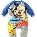 2016 новорожденных детская одежда 100% Хлопок С Длинным рукавом ребенка ползунки Одежды Минни Микки Комбинезон Мальчик Девочка костюмы