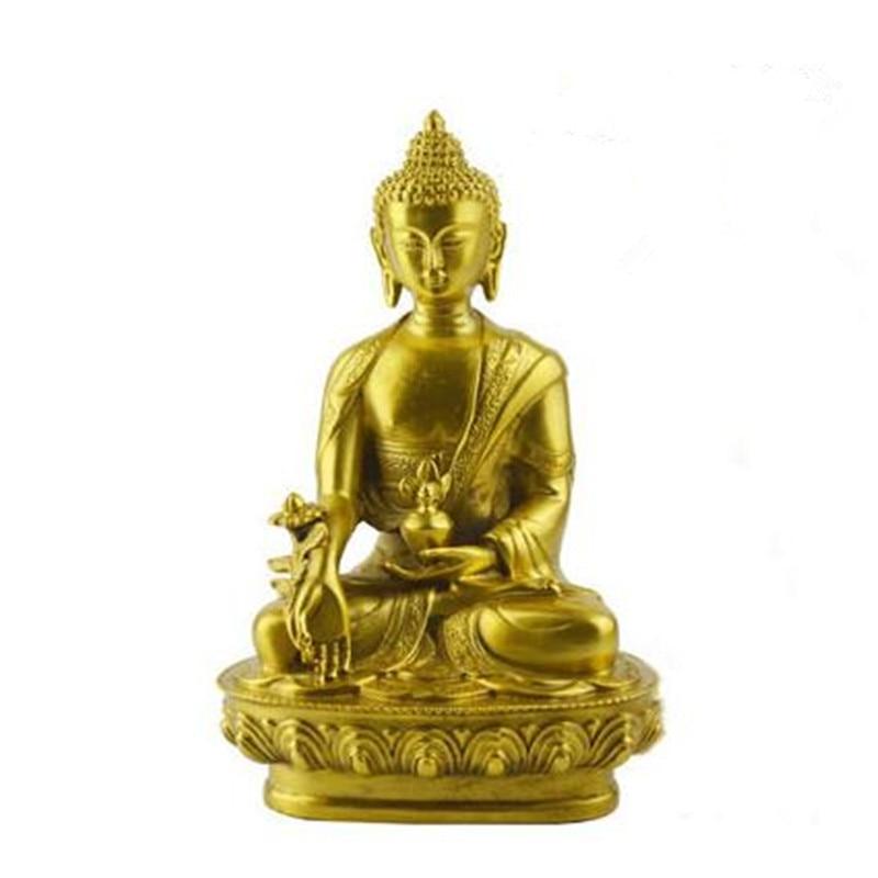 Barevná Claze Buddha socha Fengshui Bůh bohatství Pryskyřice - Dekorace interiéru - Fotografie 4