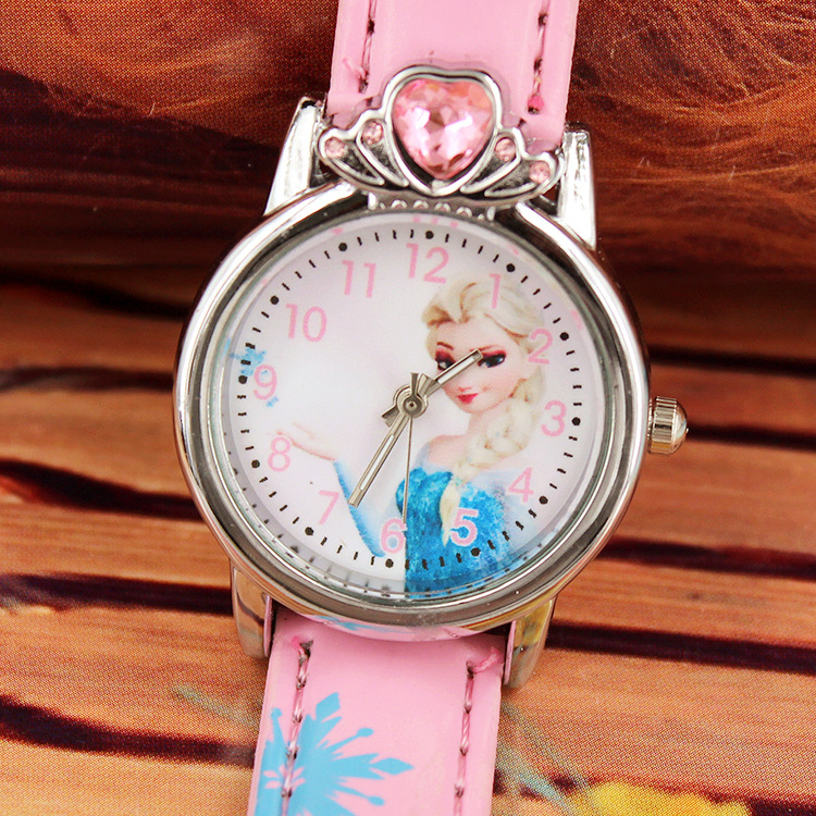 Belt Cartoon Children's Watch  Heart  Girl Quartz Watch  Cute The Princess Elsa Anna Watch