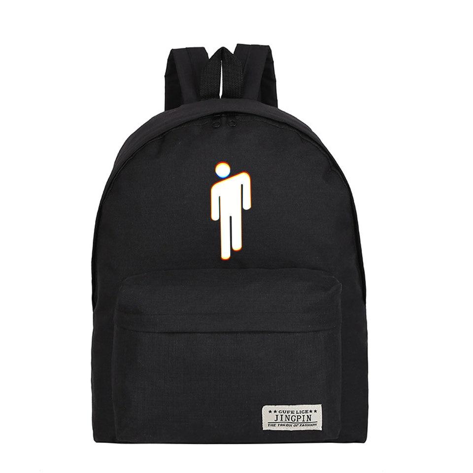 Singer Billie Eilish Funny Bag Backpack Harajuku Kpop Mochila Hip Hop Teenager School Cool Bags Billie Eilish High Quality Bag