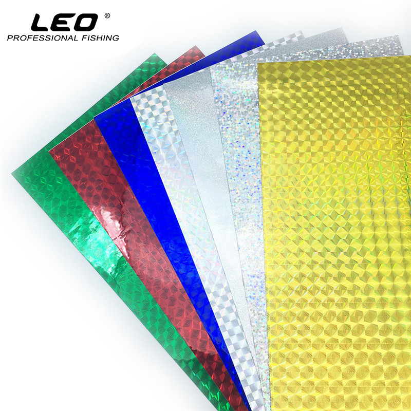 DIY Fishing Lure Accessories Holographic Lure Sticker Artificial Fish Scale Skin Laser Lure Stickers 10x20cm 10pcs/lot Low Price 5sheets pack 10cm x 5cm holographic adhesive film fly tying laser rainbow materials sticker film flash tape for fly lure fishing