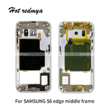 Middle Frame For Samsung Galaxy S6 Edge G925 G925F Silver Gold Black Middle Frame Housing Chassis Plate Bezel Replacement Parts стоимость