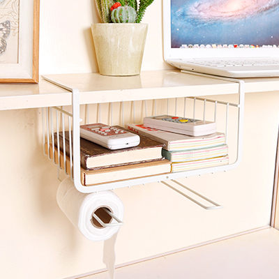 kitchen cabinets under the shelf compartment hanging rack ...