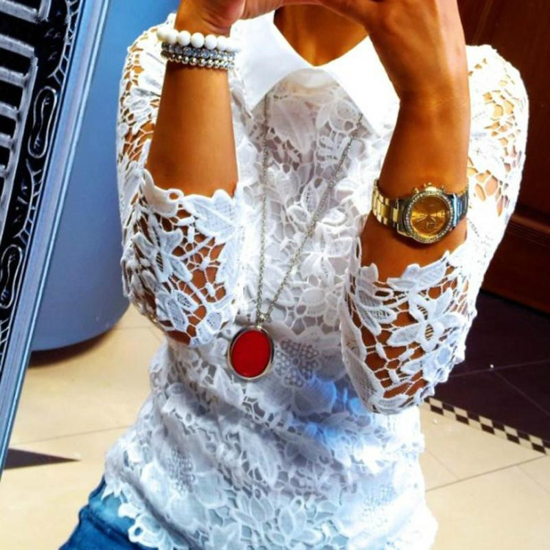 Fashion Women Blouses Casual Shirt Women Tops Lace Blouse Blusas Y Camisas Mujer Chemise Femme Women Clothes