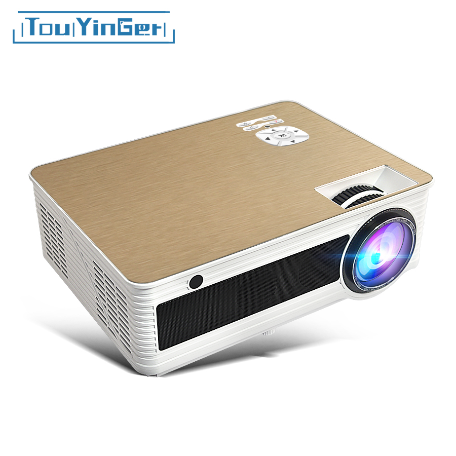 Touyinger M5 HA CONDOTTO il Proiettore HD 4000 Lumen (Android 6.0 Bluetooth 5g WiFi 4 k Opzionale) TD86 Beamer Video Home Cinema 1080 p 3D