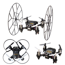 2.4G 4 Channels 6 Axis Gyro Quadcopter 3D Fly Drones LED Mini RC Helicopter Toys Black & White Colors remote control helicoptero