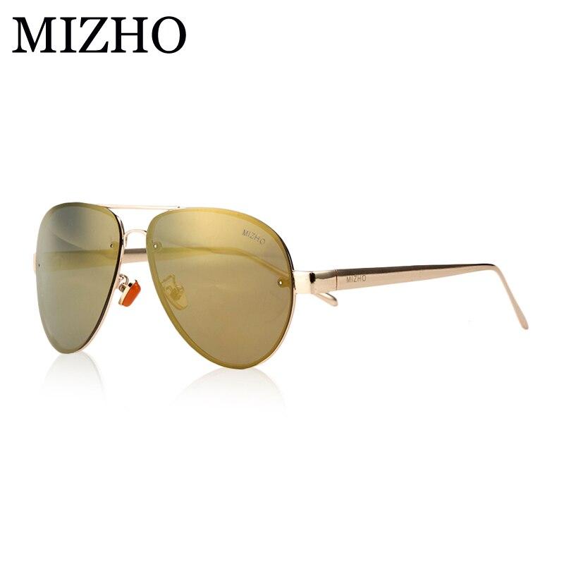MIZHO Men Sunglasses Driving Rose-Gold Polarized Women Aviadors Luxury Brand Designer