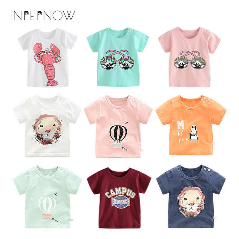 INPEPNOW 2018 T Shirt Summer Top Kids Clothes Boys Tshirt Striped Tee Shirt Baby Groot Clothing maglietta del bambino DX-CZX24