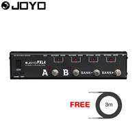JOYO Multiefectos Guitarra Pedal Looper Switcher Programable 4 Loop True Bypass PXL-4 con Envío 3 m Cable