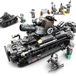 Building Block  Super Tank Combat Vehicle Boy Diy Inserts Building Block Small Particle Assembly Building Block Boy toys