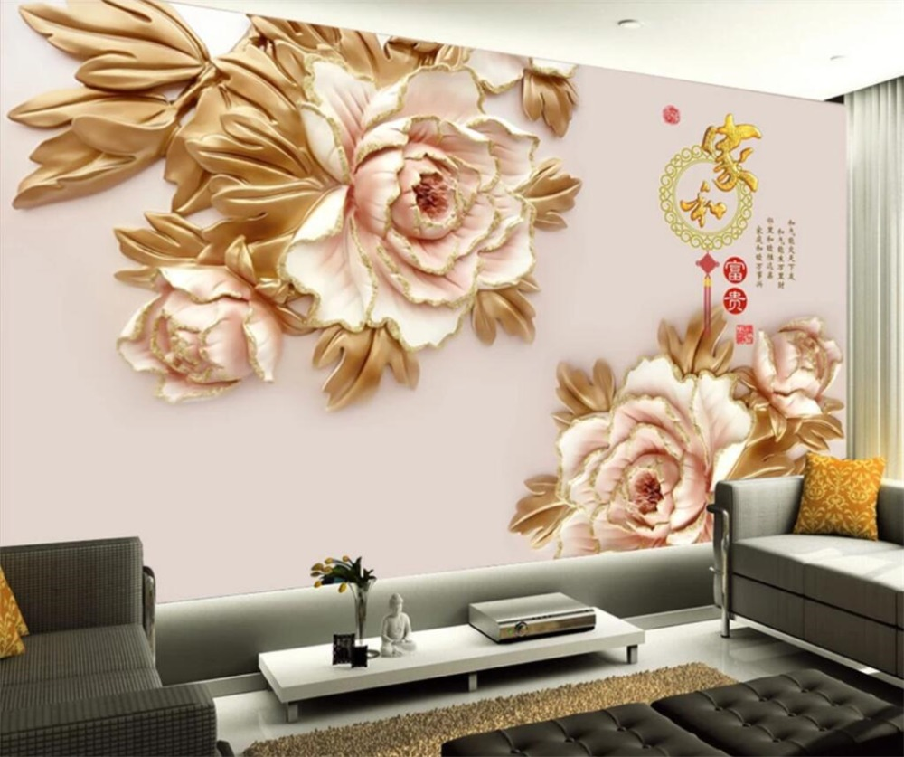 Custom Any Size 3d Wallpaper Smooth Sailing Jade Carving Landscape Sofa Living Room Tv Background Wall Decoration Mural Silk Wal Fixing Prices According To Quality Of Products Home Improvement Painting Supplies & Wall Treatments