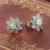 925 de prata esterlina 2016 jóias na moda elegante esmalte verde flores do parafuso prisioneiro brincos de fábrica por atacado marca gw jóias er1018