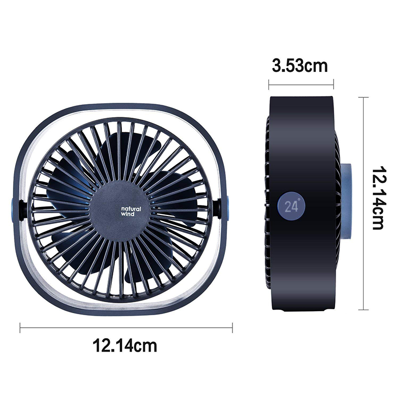 360 Rotation 3 Speed  Mini Fan 3