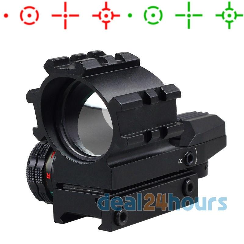 Галаграфічная 4 Прыцэльныя Асвятленне Tactical Red & Green Dot Reflex Sight Scope Бясплатная дастаўка!
