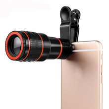HD Mobile Phone Telephoto Lens 12 X Zoom Telescope Optical Telescope Camera Lens with Clips for All Phone(China)