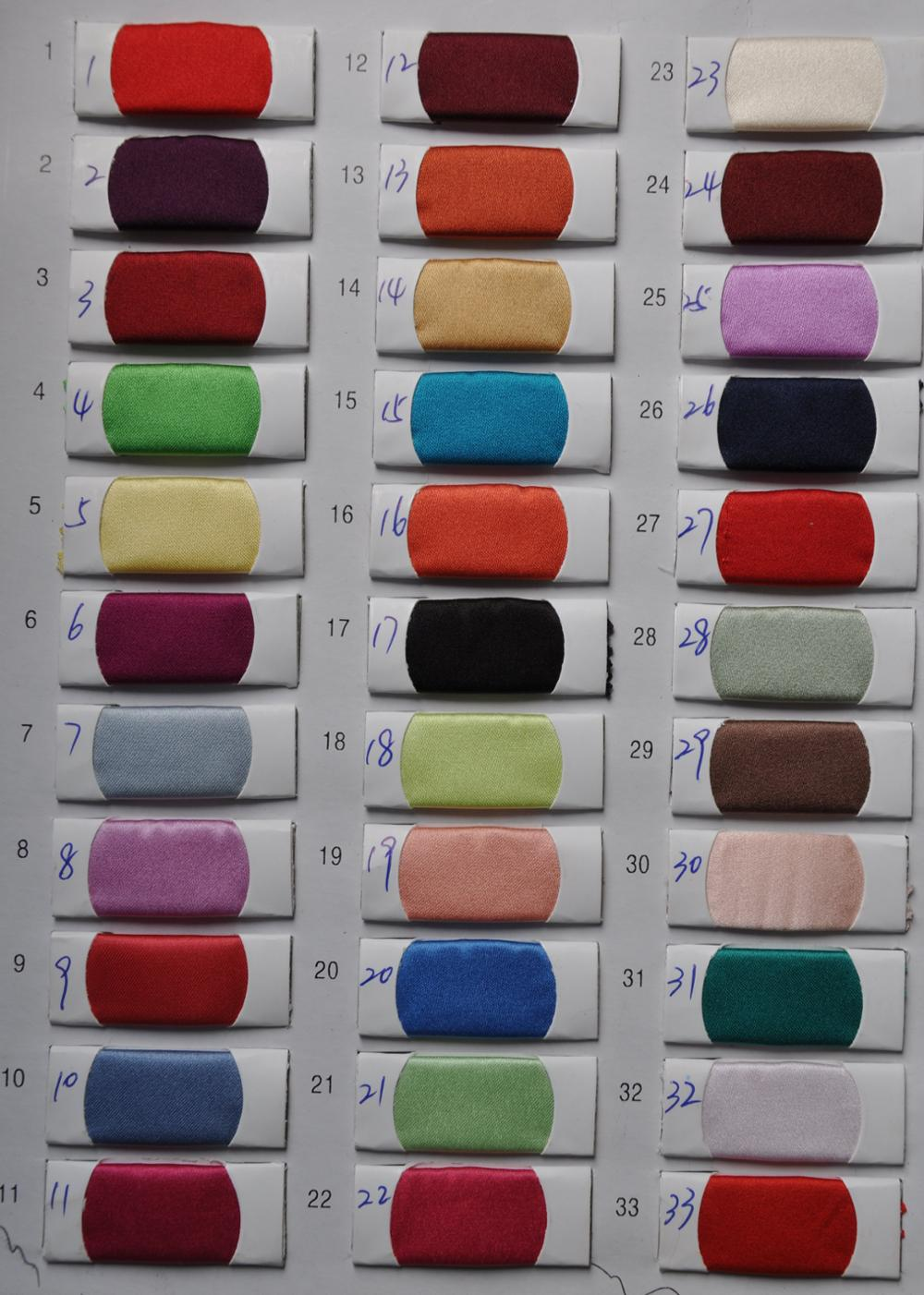Satin Color Chart 1