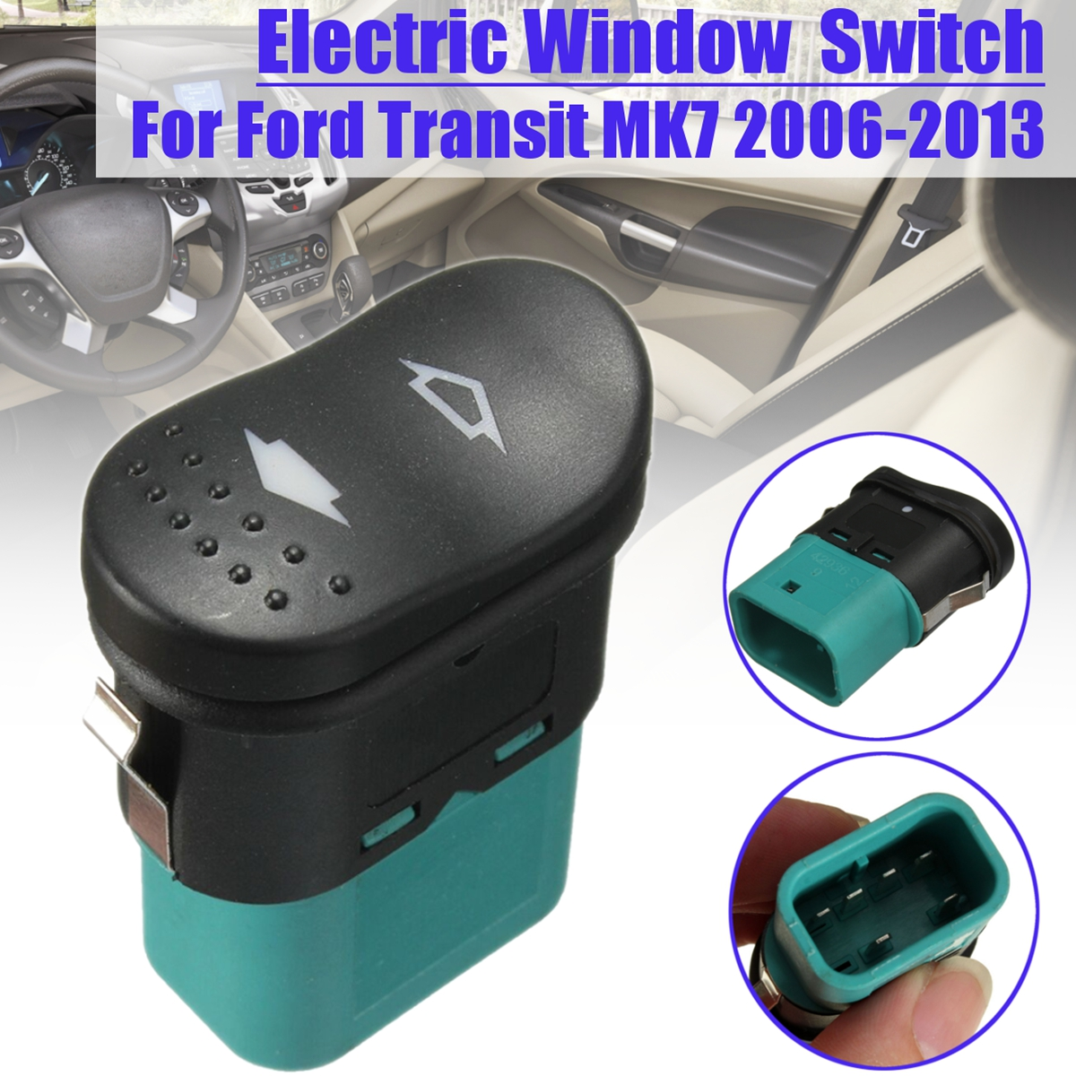 US $1 85 14% OFF Electric Door Window Rocker Switch Front Left & Right For  Ford Transit MK7 2006 2013 1383293-in Car Switches & Relays from