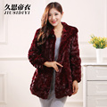 2016 new winter fashion fur mink fight mink hooded long section of female mink coat grass