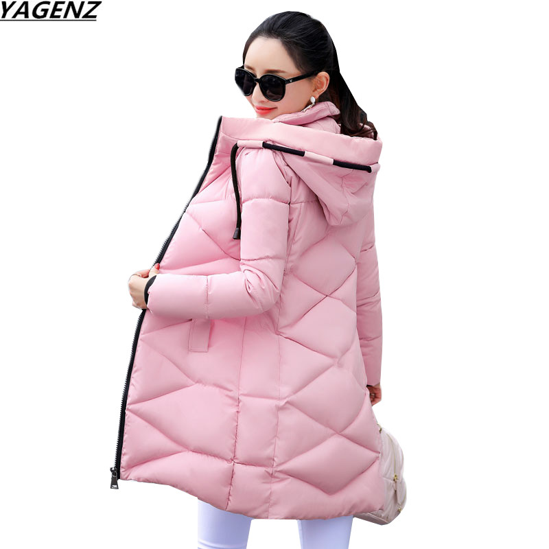 High Quality Women Jacket 2017New Winter Coat Thicken Down Jacket Hooded Parkas Medium Long Outerwear Plus Size Female YAGENZ617 winter jackets coats new down cotton jacket women parkas thicken hooded outerwear slim large size medium long female coat k616