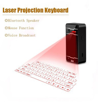 Wireless Bluetooth Virtual Laser Projection Keyboard Mouse Bluetooth Speaker For IPad IPhone Android IOS Tablet PC