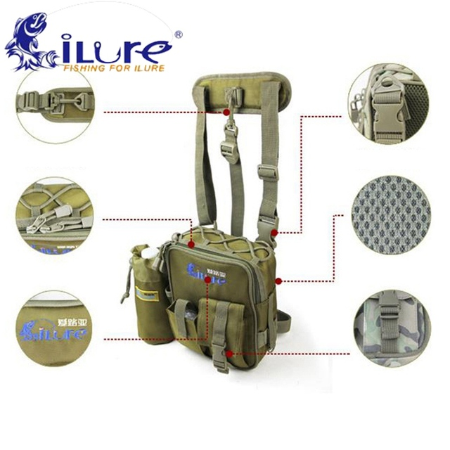 Best Offers iLure Fly Fishing Bags Multi-Purpose Waterproof Oxford Cloth Outdoor Sports Bagpack Belt Leg Waist Fishing Tackle Bag Rod Case