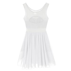 Image 5 - Women Cut Out Asymmetric Ballet Dance Leotard Dress Adult Lyrical Modern Show Dancing Practice Skirt Ballerina High Cut Costume