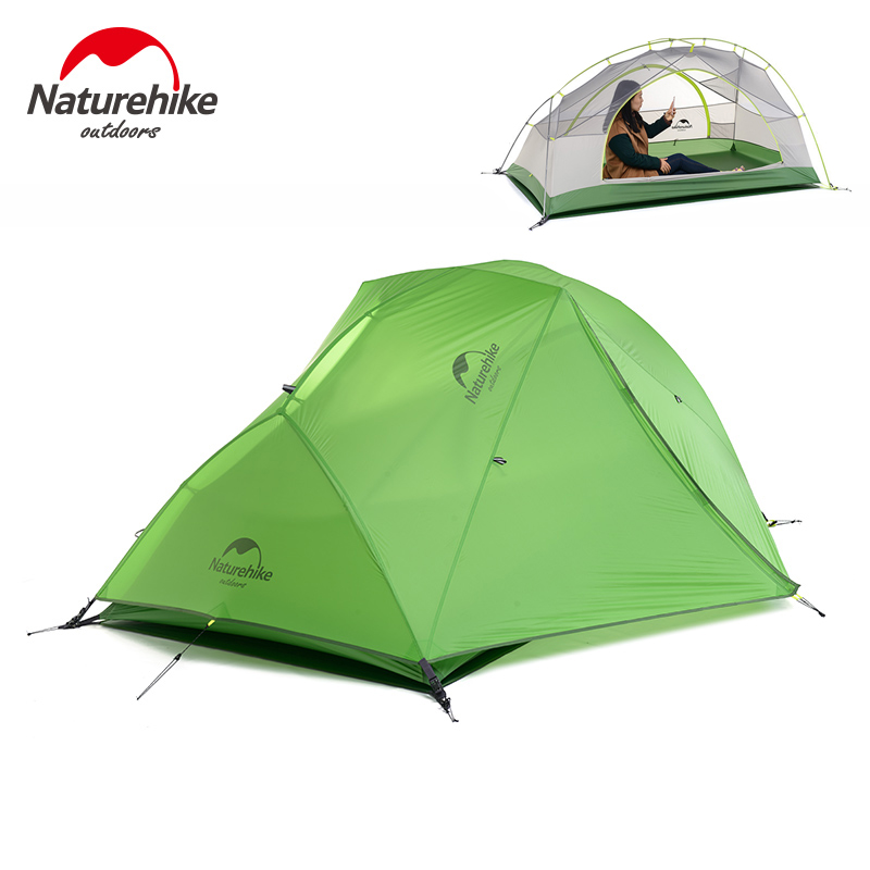 Naturehike New version 1-2 Person Camping Tent Ultralight Waterproof 4 Season travel hiking tents outdoor Double Layer tent brand 1 2 person outdoor camping tent ultralight hiking fishing travel double layer couples tent aluminum rod lovers tent