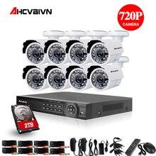 8CH CCTV System 1080P HDMI Output Video Surveillance DVR Kit with 8PCS 2000TVL 720P Home CCTV Security Camera System waterproof