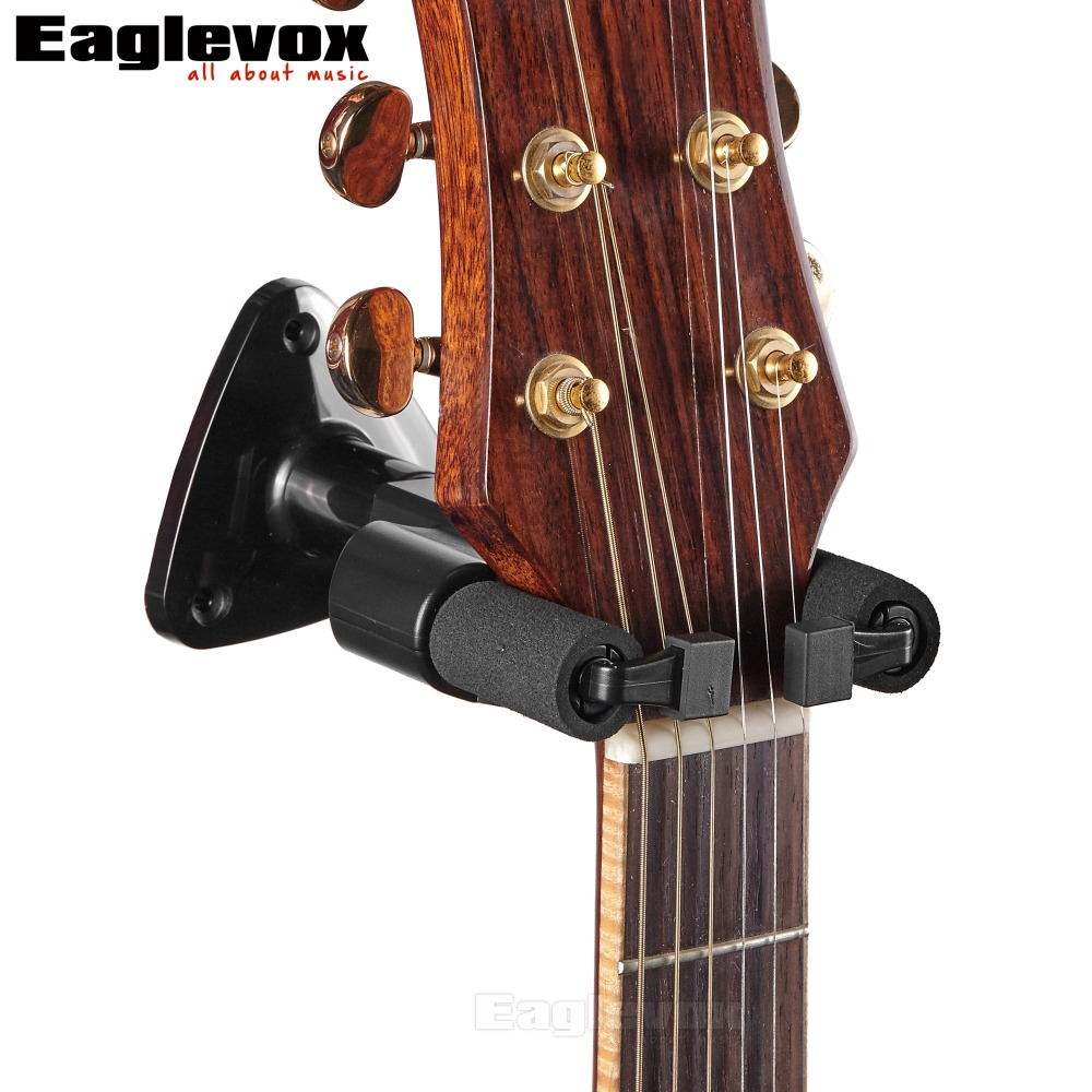 Guitar Hanger Hook Holder Wall Mount Stand Rack Bracket Display For All Size Guitars Bass MH20 2pcs guitar piano bass guitar hook violin ukulele electric guitar stand long arm wall hanger hook holder pa094