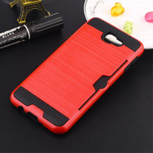 For Samsung S8 S7 S6 S5 S4 Edge Plus Note 3 4 5 7 Shockproof Hybrid Armor Card Holder Slot Silicone Phone Back Covers Case Capa