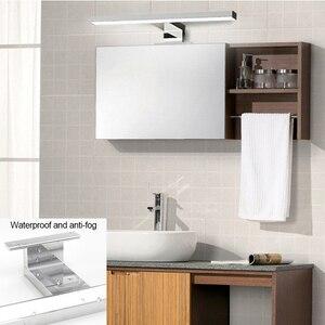 Image 4 - Warll lampe à miroir LED étanche K, blanc naturel, éclairage à miroir, éclairage pour une salle de bains