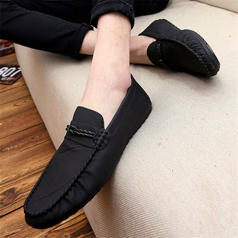 2019 Pu High Quality Shoes Men Casual Shoes Luxury Brand Mens Loafers Moccasins Breathable Slip On Black Driving Shoes Summer