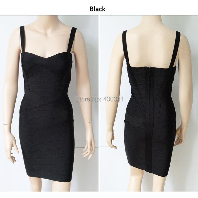 17 New Women Sexy Spaghetti Strap Rayon HL Elastic Celebrity Bandage Dress Bodycon Mini Club Party Dresses Drop Ship HL8675 26