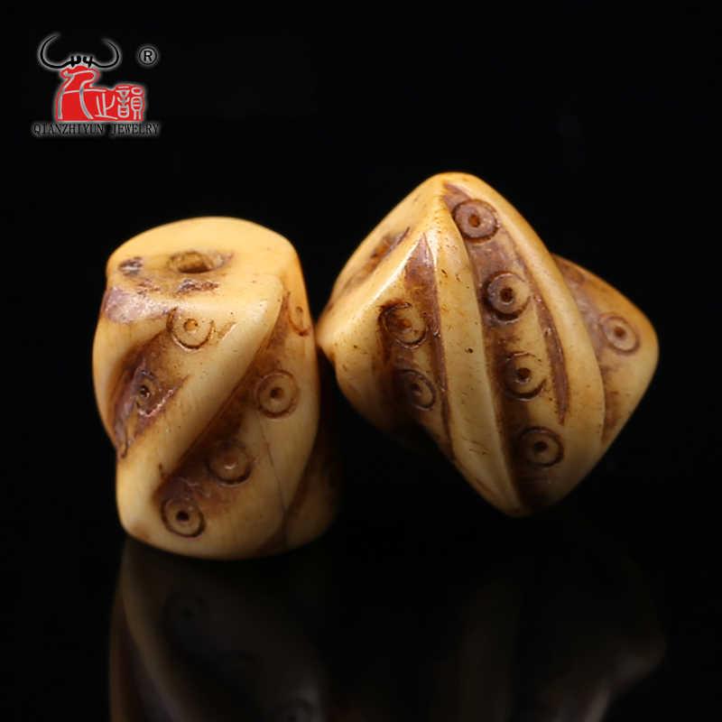 5pcs Tibetan Yak Bone Bead Hand Chain Necklace Antique Diy Scatter Beads For Jewelry Making Handmade Carved 27mmx14mm Hole 2mm Beaded Handmade Yak Bone Beadshandmade Beads Aliexpress