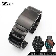 Pulseira de aço inoxidável 24mm 26mm 28mm relógio masculino pulseira de metal sólido para relógios diesel banda